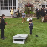 Corn hole at Michigan Wedding