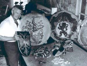 John VanHaver with Heraldic Arms